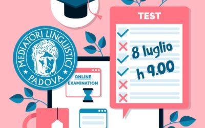 TEST DI AMMISSIONE 8 LUGLIO